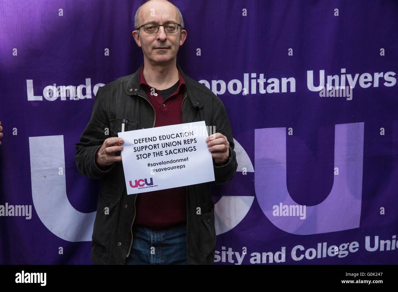 London, UK. 1st May, 2016. David Hardman, Principal Lecturer in the School of Psychology at London Metropolitan Stock Photo