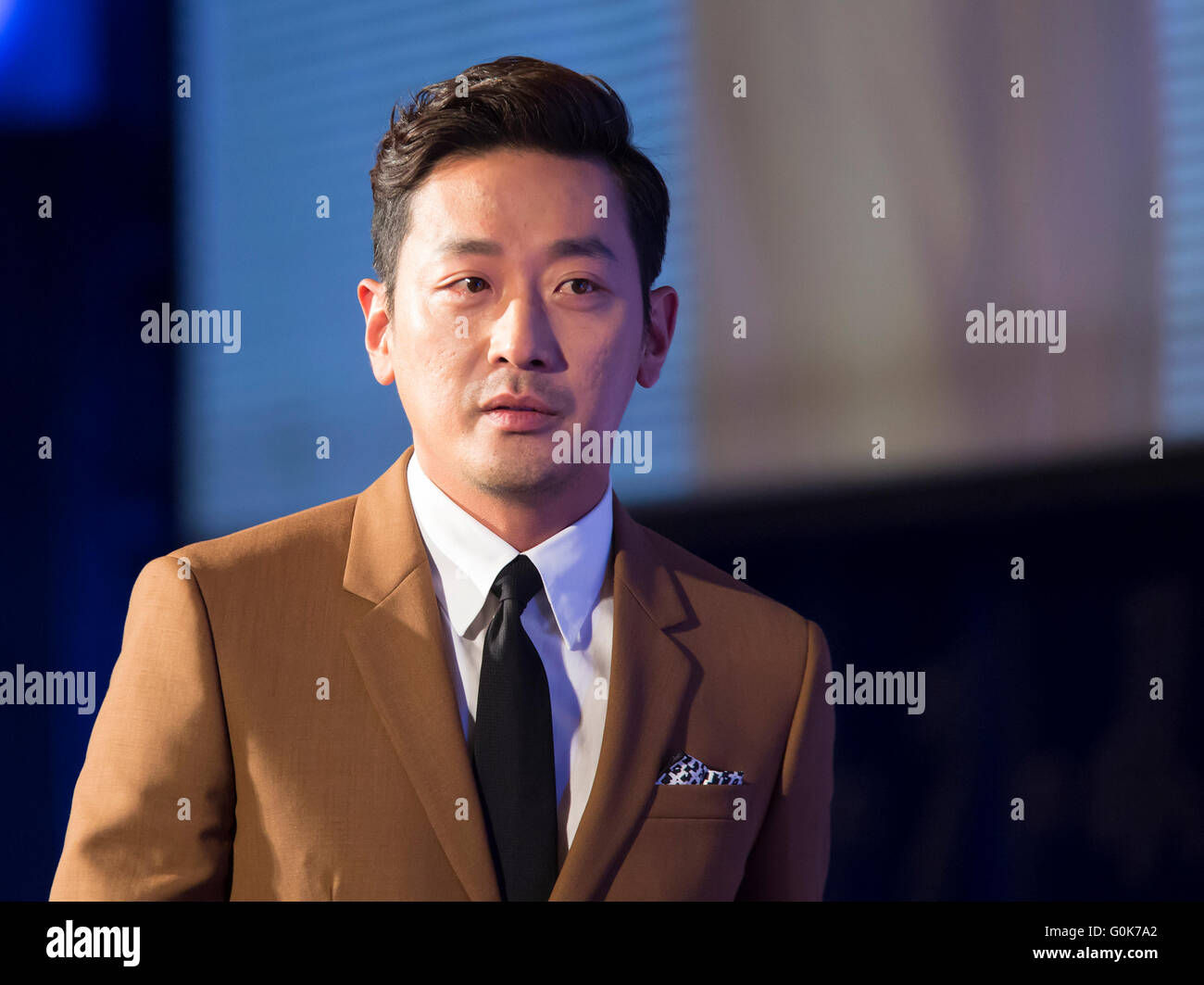 Ha Jung-woo, May 2, 2016 : South Korean actor Ha Jung-woo attends a press conference for his film, 'The Handmaiden' - Stock Image