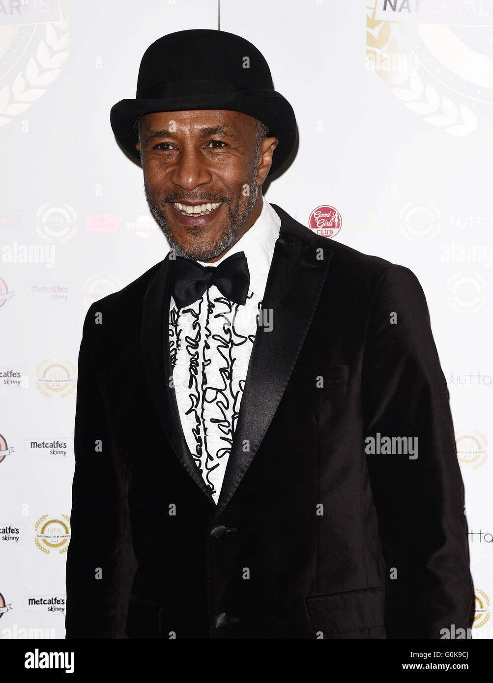 National Film Awards at the Porchester Hall, London  Featuring: Danny John Jules Where: London, United Kingdom When: - Stock Image
