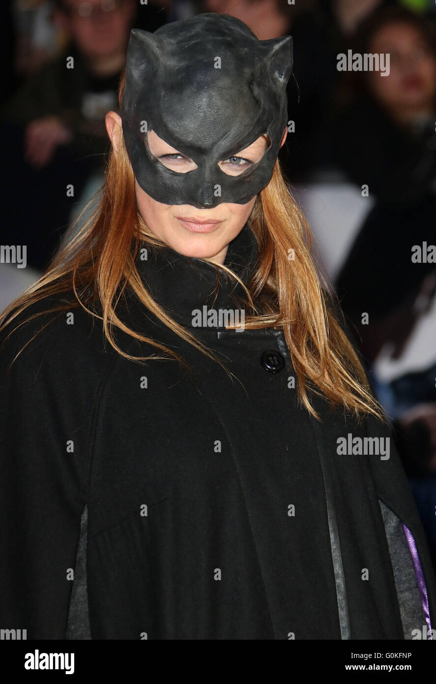 March 22, 2016 - Olivia Inge attending The European Premiere of 'Batman V Superman: Dawn Of Justice' at - Stock Image