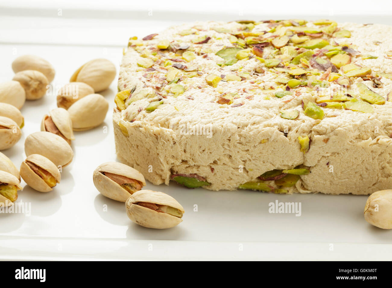 pistachio halva Stock Photo
