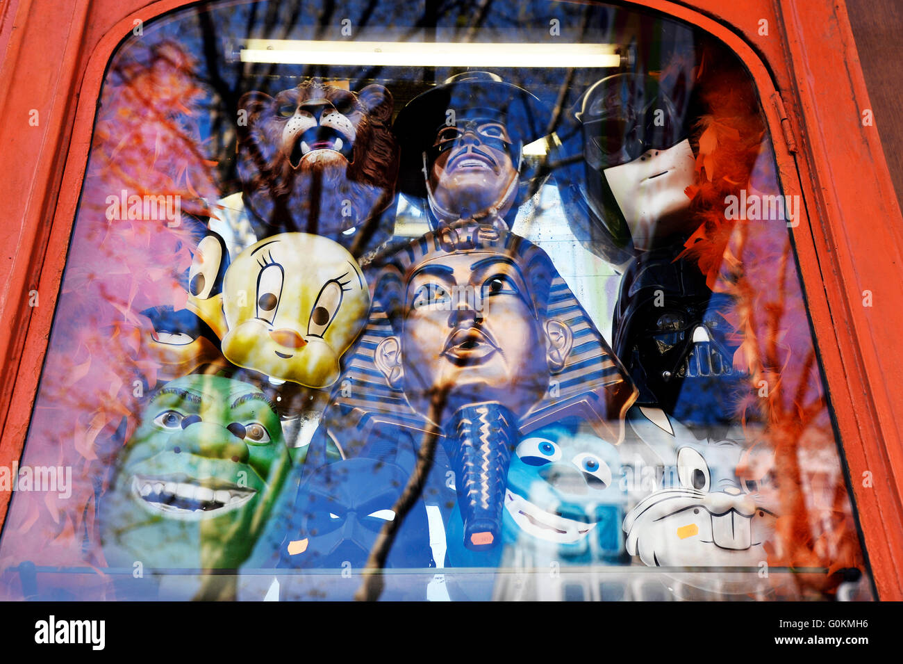 Dressing-up and joke shop in Paris - Stock Image