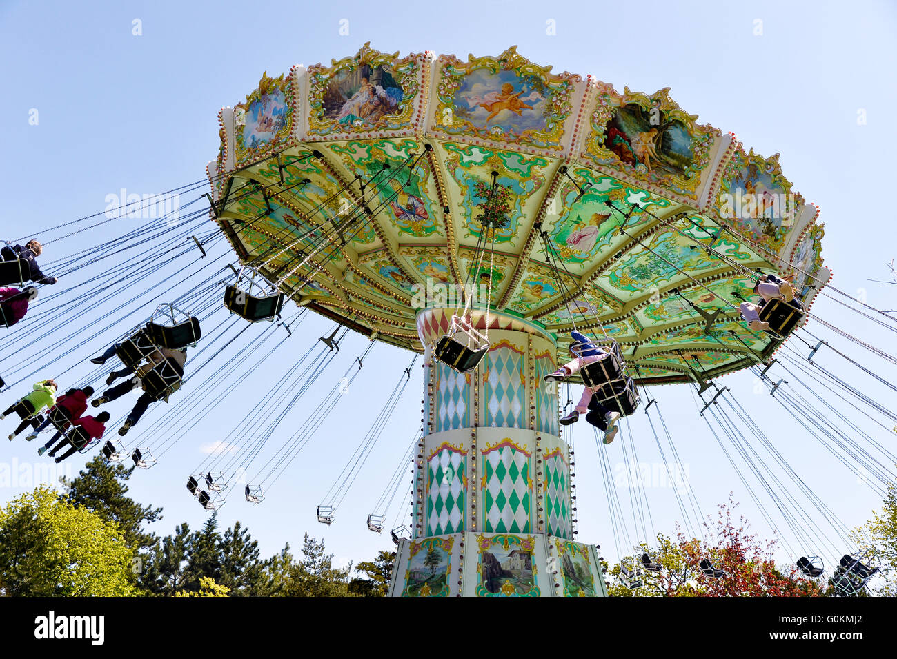 View of jardin d'acclimatation in Paris - Stock Image
