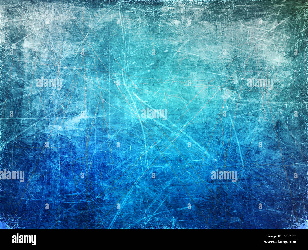 ice winter scratched background - Stock Image