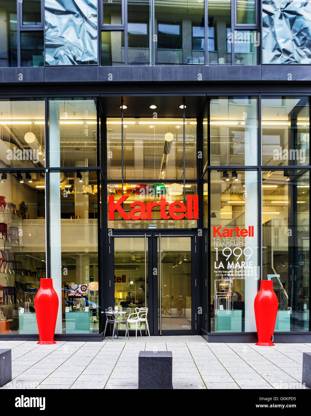 modern furniture store. Interesting Store Kartell Contemporary Modern Furniture Shop Exterior In The Blow Carre  Shopping Centre And Modern Furniture Store A