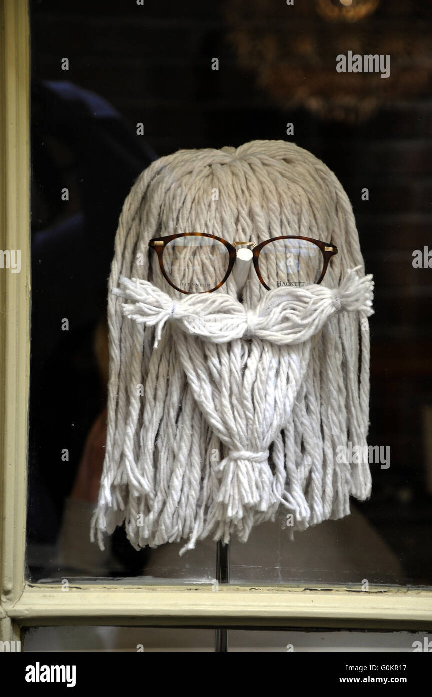 A mop which  resembles a face - Stock Image