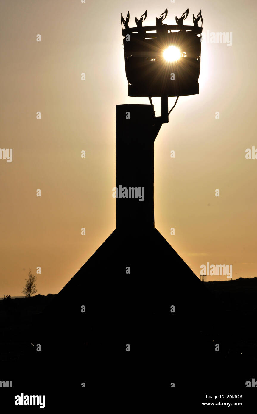The Queen's Birthday Beacon,  Kington, Herefordshire, UK - Stock Image