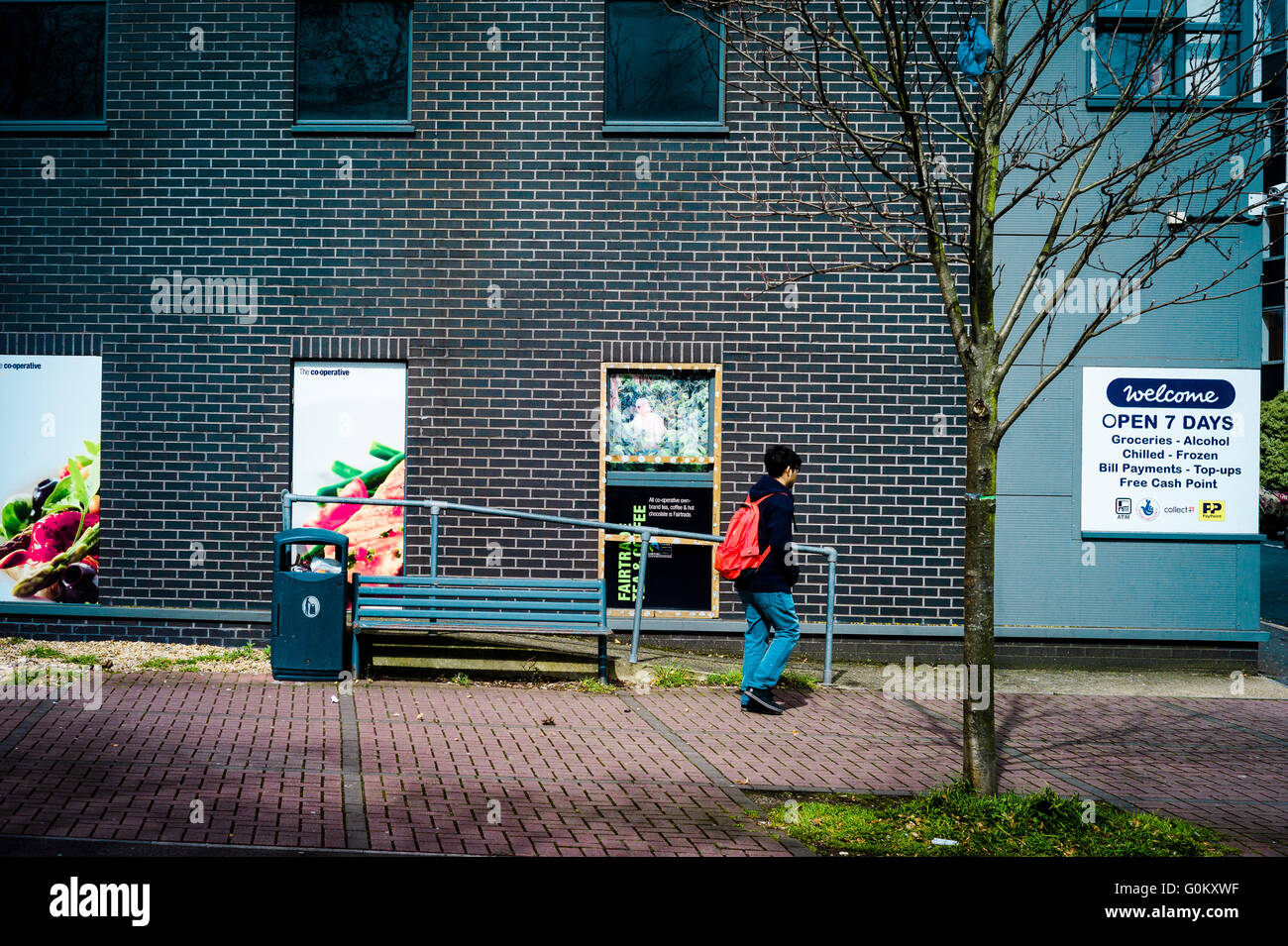 Exterior of building including disabled ramp leading nowhere, (Liberty Quays, Southampton) - Stock Image