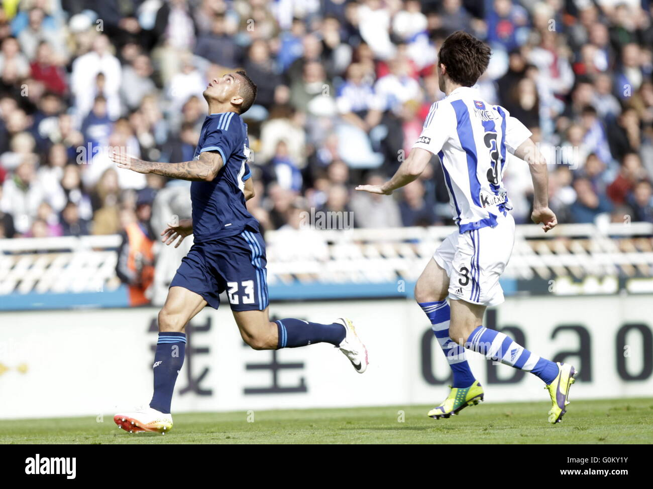 Danilo of Real Madrid during the La Liga match espagolde Real Sociedad - Real Madrid at the Anoeta Stadium - Stock Image