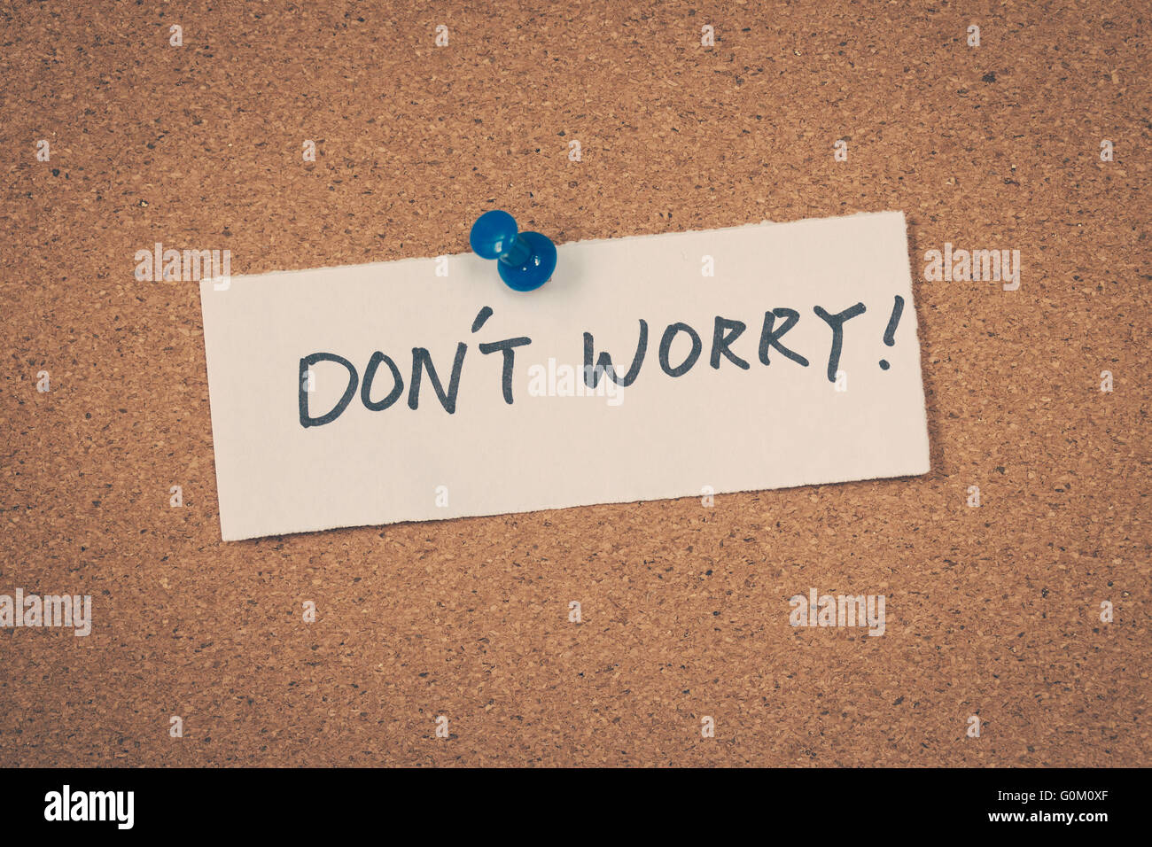 Don't worry - Stock Image