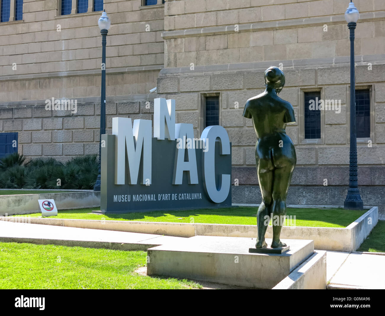 Museu Nacional d'Art de Catalunya or National Art Museum MNAC, in Barcelona, Catalonia, Spain - Stock Image