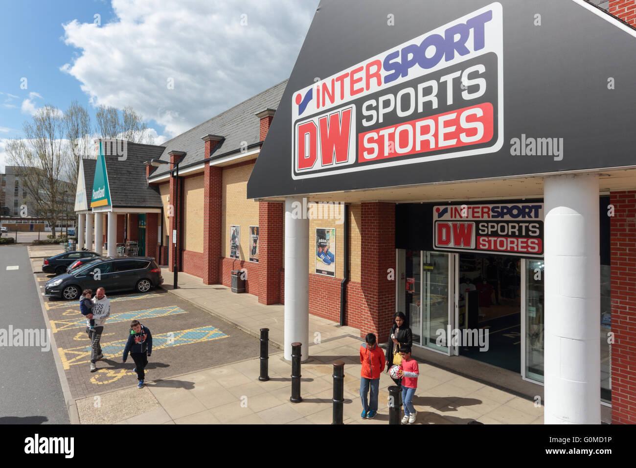 Colchester Retail Park, Colchester - Stock Image