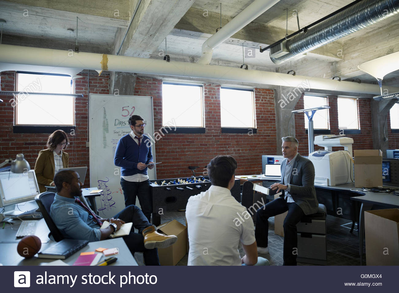 Entrepreneurs planning in new office - Stock Image