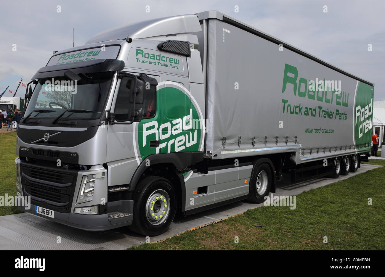 Volvo tractor unit - Articulated lorry unit - Volvo Road Crew - Stock Image