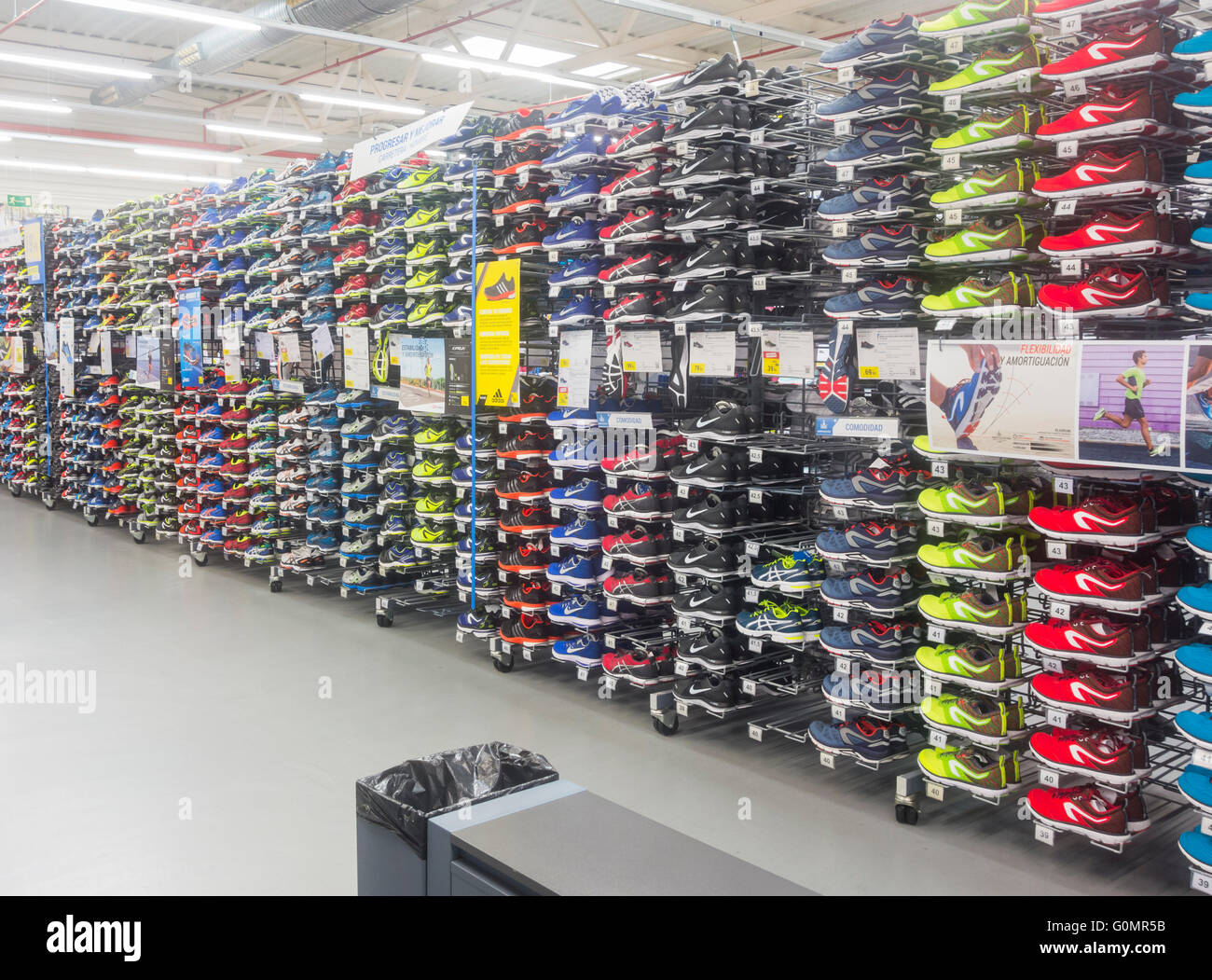 purchase cheap c56f0 3978d Kalenji branded running shoes in Decathlon store.