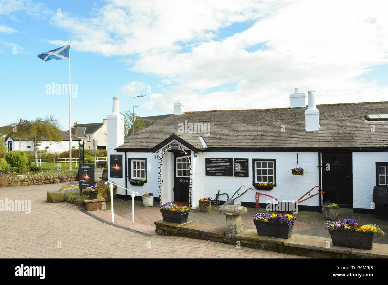 The famous Old Blacksmiths Shop in Gretna Green, Scotland, UK, Europe - Stock Image