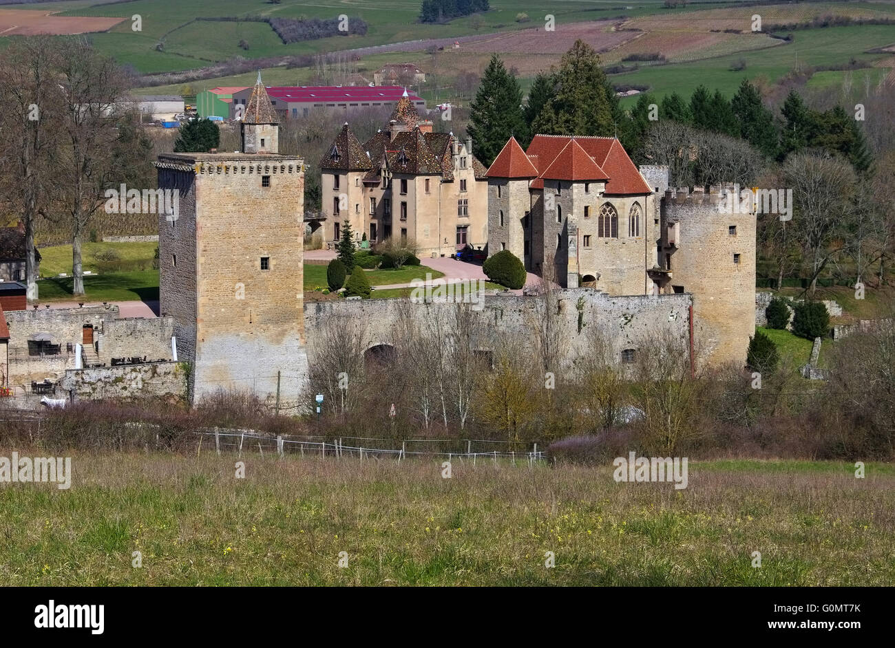 Couches Chateau in Burgund, Frankreich - Chateau Couches in Burgundy, France - Stock Image