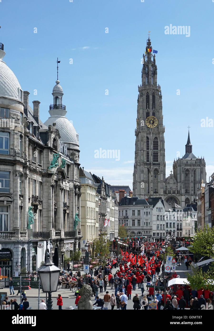 Labor day Labour Day international Workers' Day 1 May Antwerp Belgium - Stock Image