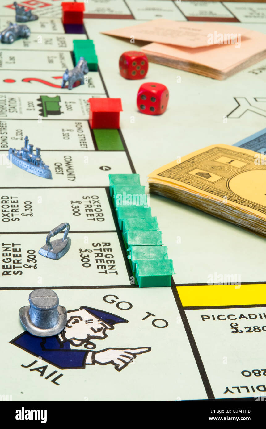 Monopoly board - Stock Image