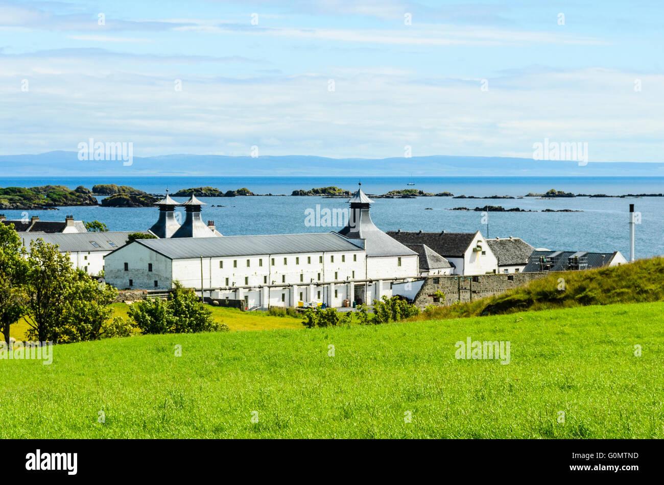 Ardbeg distillery on the island of Islay Scotland - Stock Image