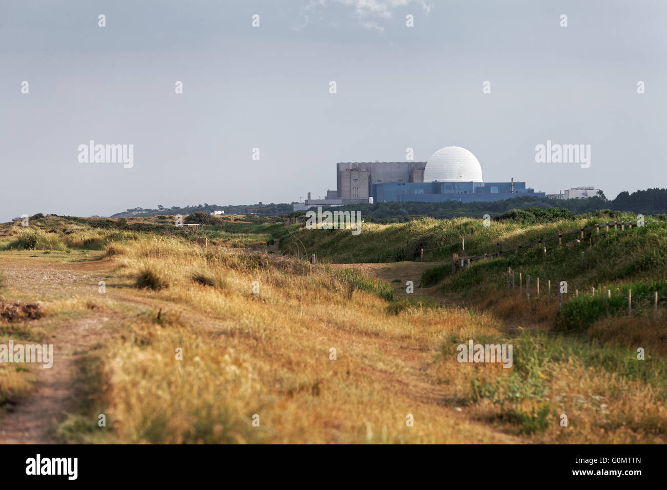 Sizewell A and Sizewell B nuclear power stations - Stock Image