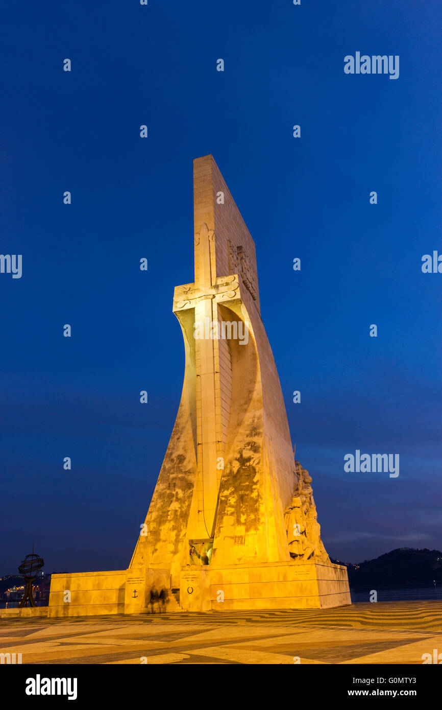 Monument to the Discoveries in Belem in Portugal - Stock Image