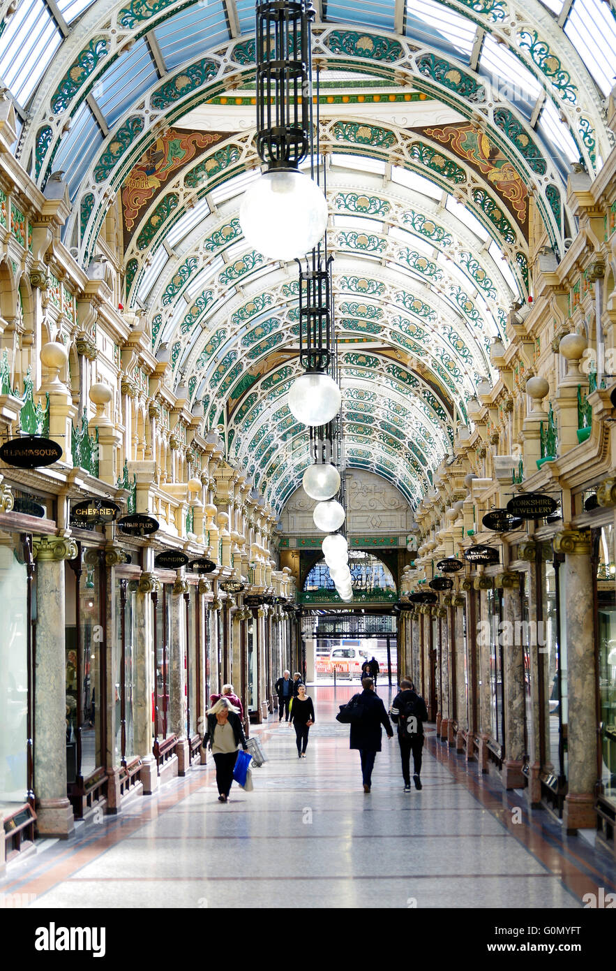County Arcade Victoria Quarter Leeds Frank Matcham - Stock Image