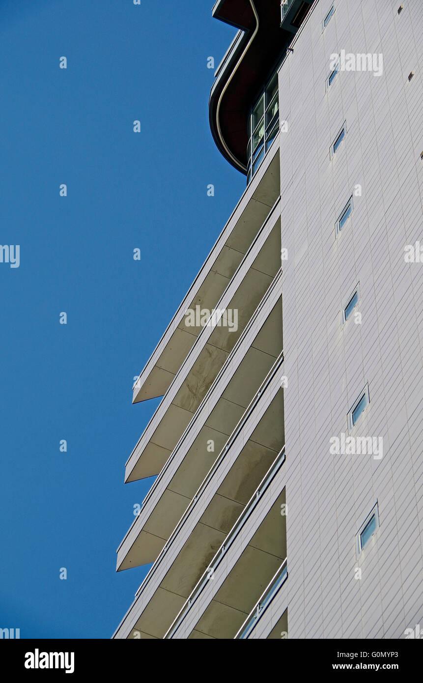 Skyline Apartments Building, Leeds - Stock Image