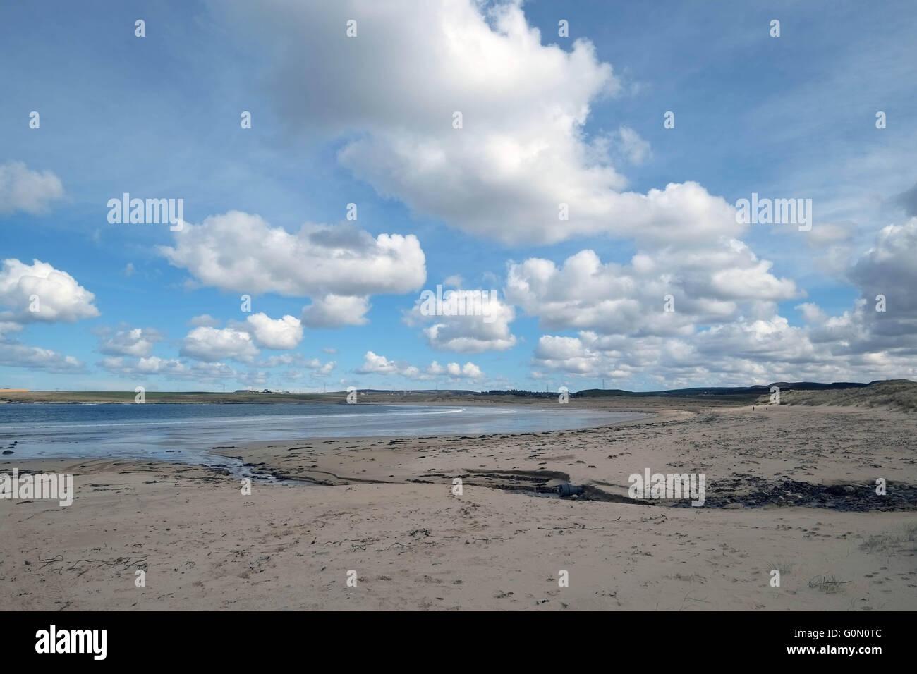 20/04/2016,  Sandside beach, Reay, Caithness, UK - Stock Image