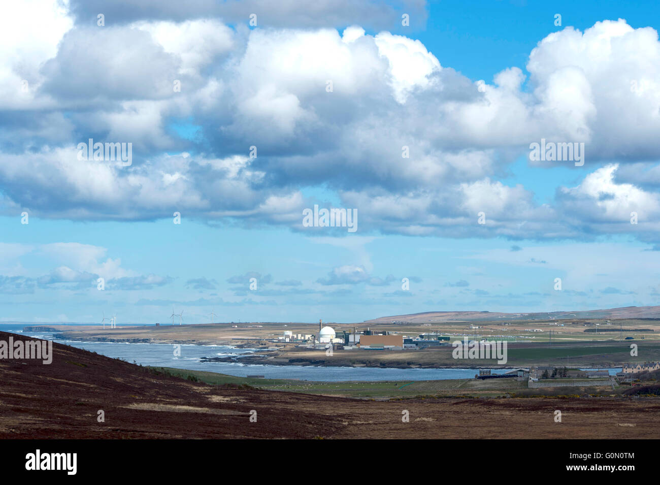 28/04/2016, A view of the former Dounreay Nuclear Power Station, Reay, Caithness, Scotland UK. - Stock Image