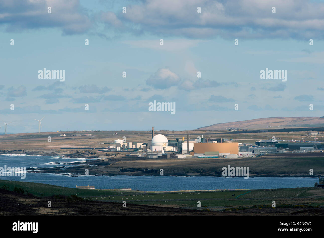 28/04/2016, A view of the former Dounreay Nuclear Power Station, Reay, Caithness, Scotland UK, which is being decommissioned. - Stock Image