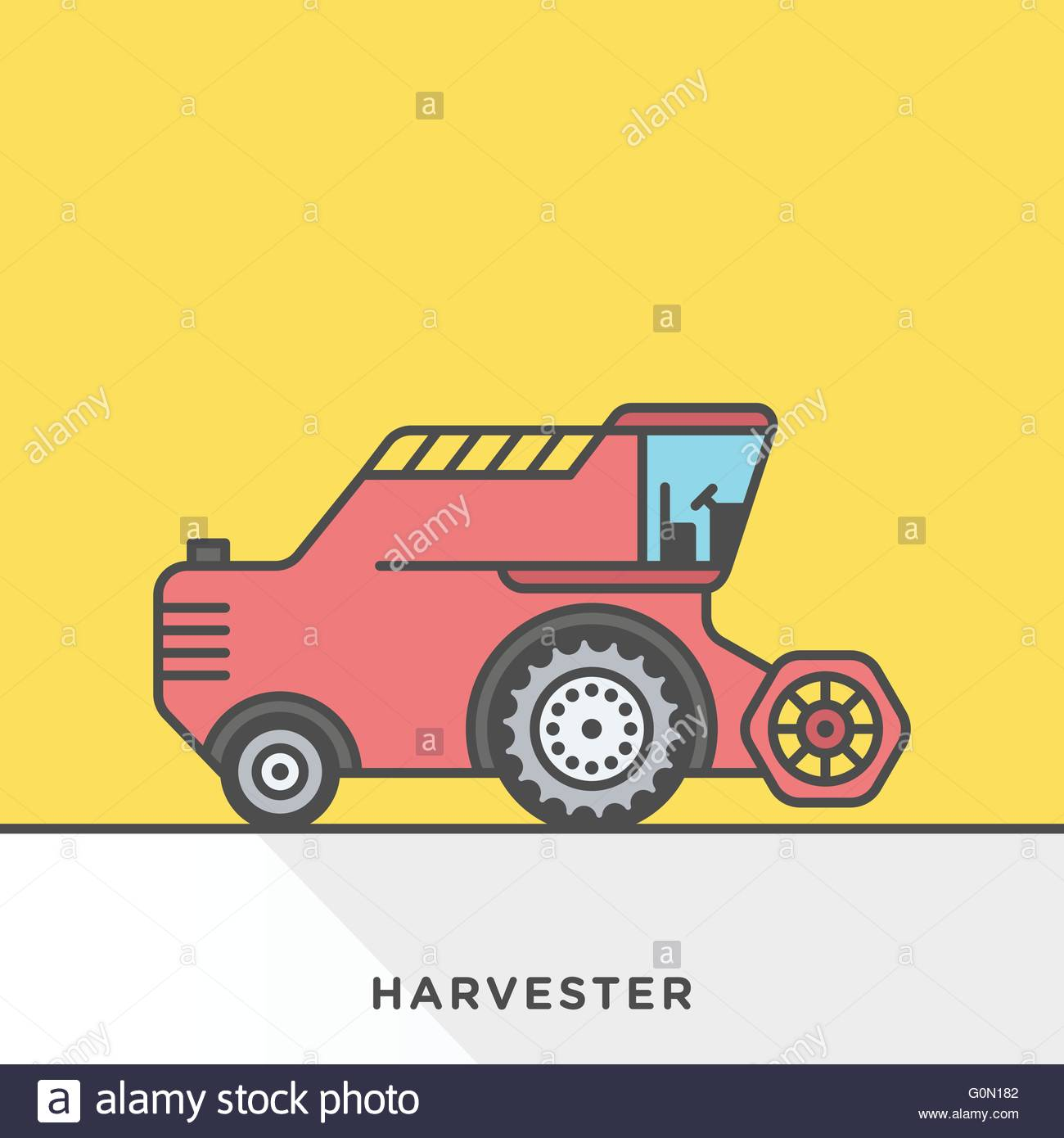 Modern style minimalistic vector illustration for agriculture and ...