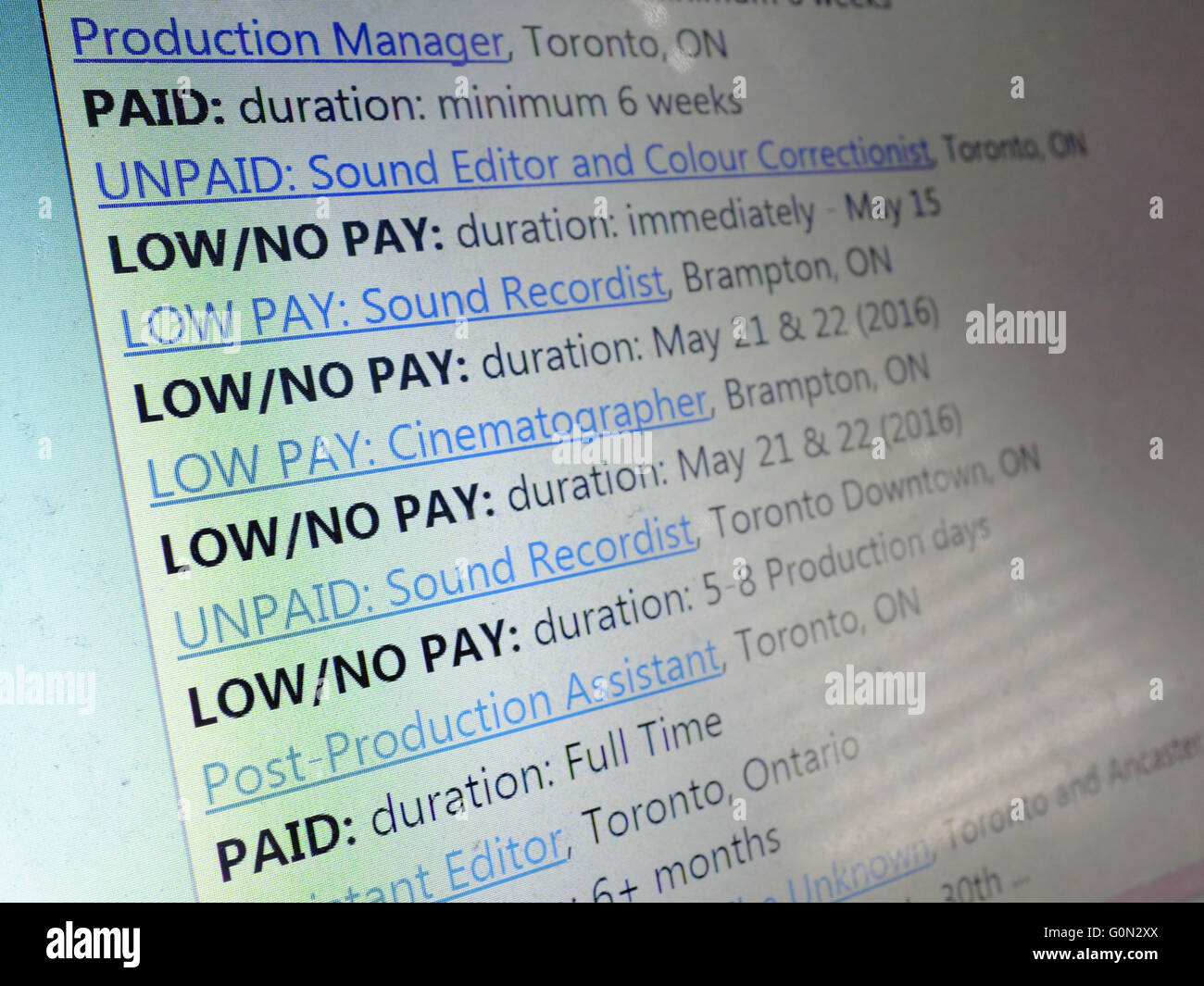 Low Pay Stock Photos & Low Pay Stock Images - Alamy