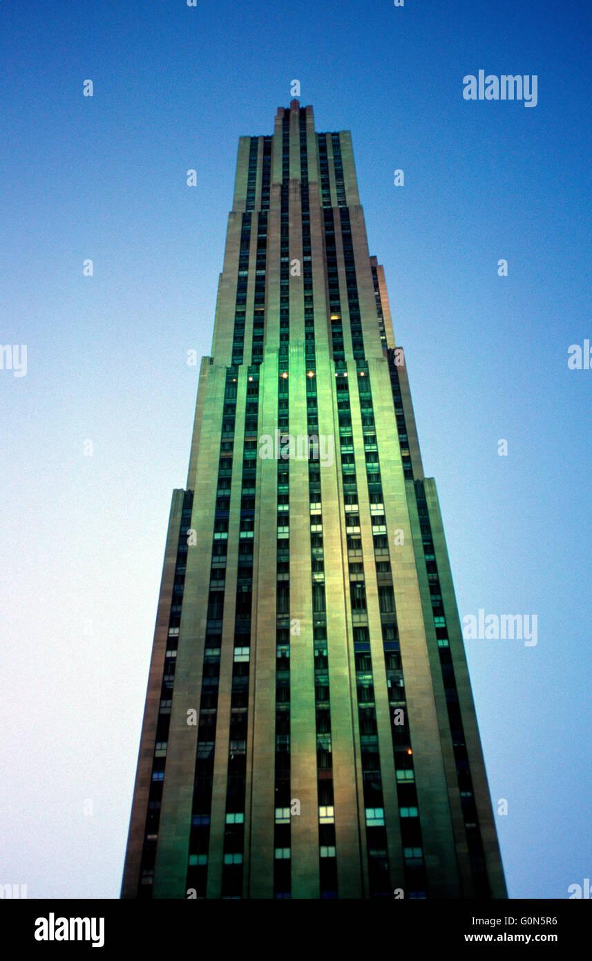 Rockefeller Center New York City Fifth Avenue Skyscraper Office