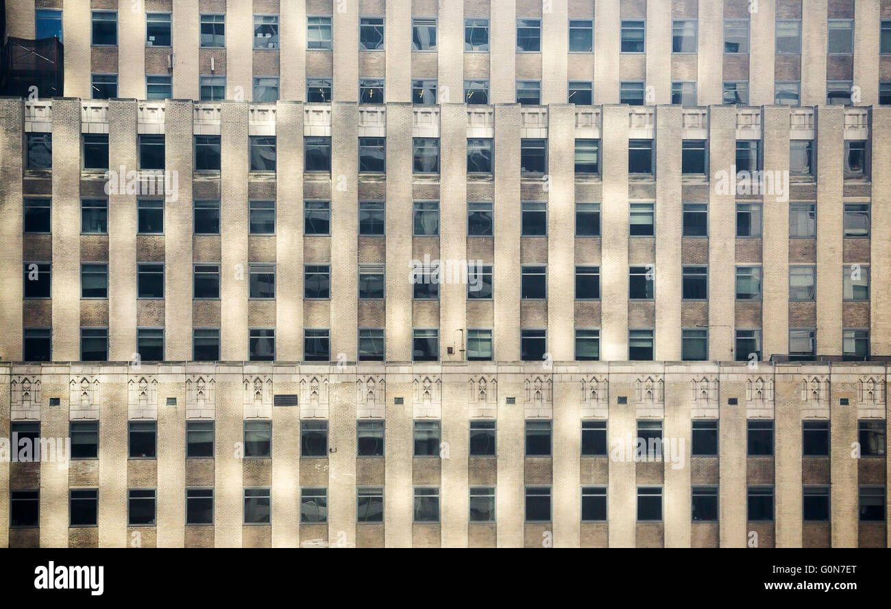 Windows in an office building in New York on Saturday, April 30, 2016.  (© Richard B. Levine) - Stock Image