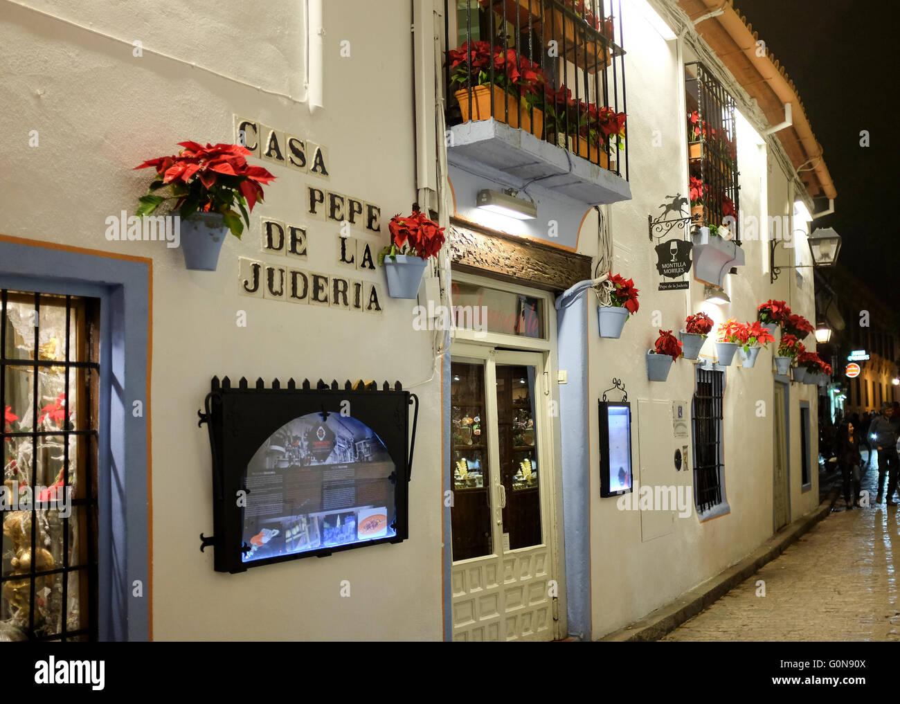 Casa Pepe De La Juderia Cordoba Spain Stock Photo