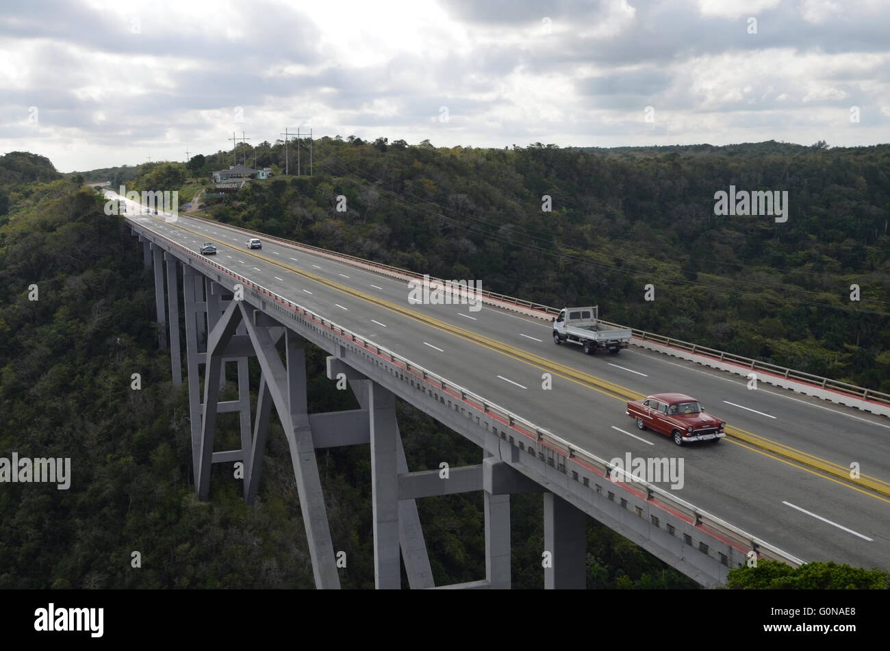Viaduct of Bacunayagua near Matanzas, Cuba 2016 - Stock Image