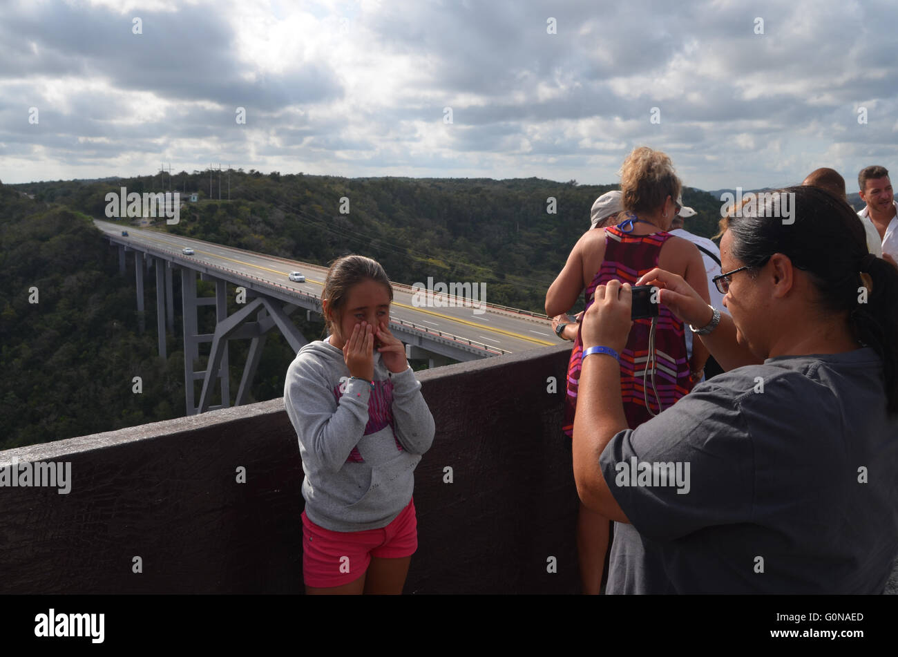 Viaduct of Bacunayagua viewpoint near Matanzas, Cuba 2016 - Stock Image