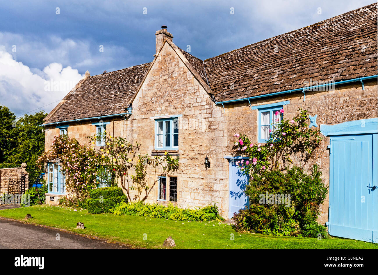 Cottage in the Heart of England, Bauernkate im Herzen Englands - Stock Image