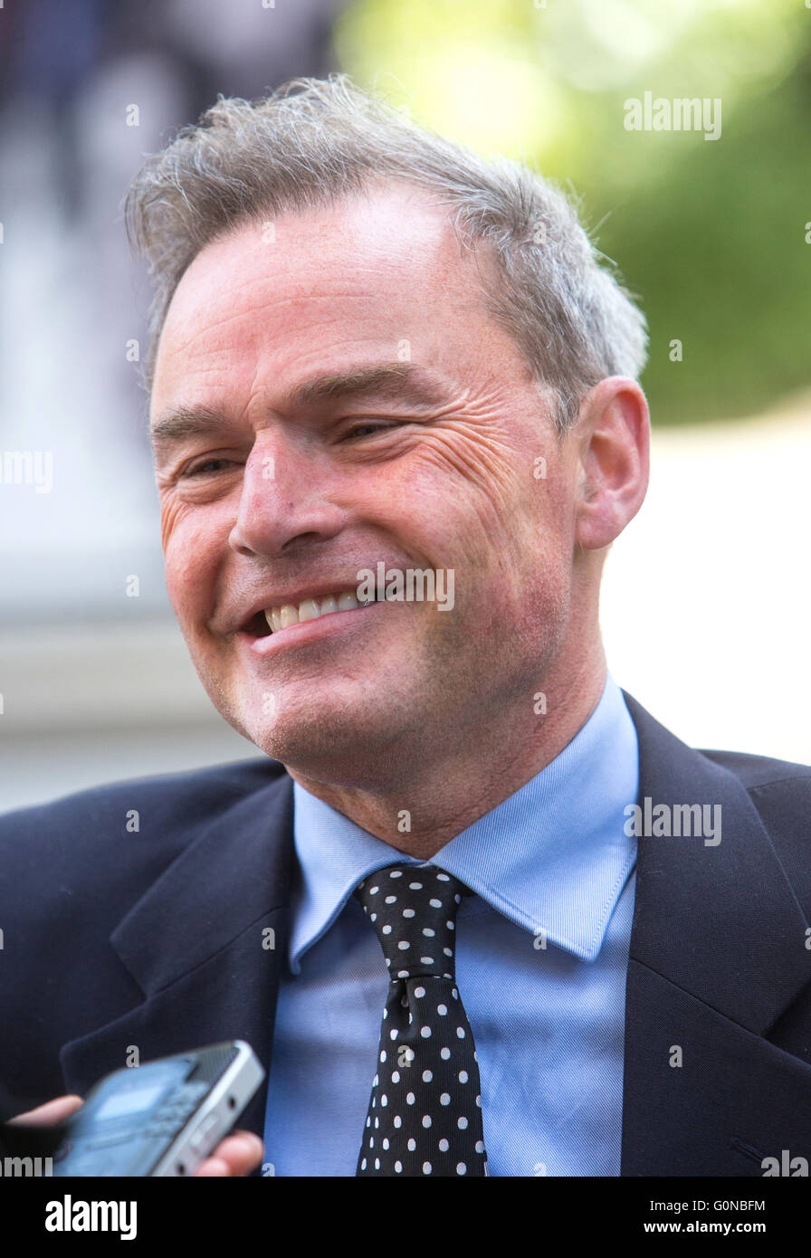 Peter Whittle,the UK Independence Party's mayoral candidate for the elections on May 5th - Stock Image