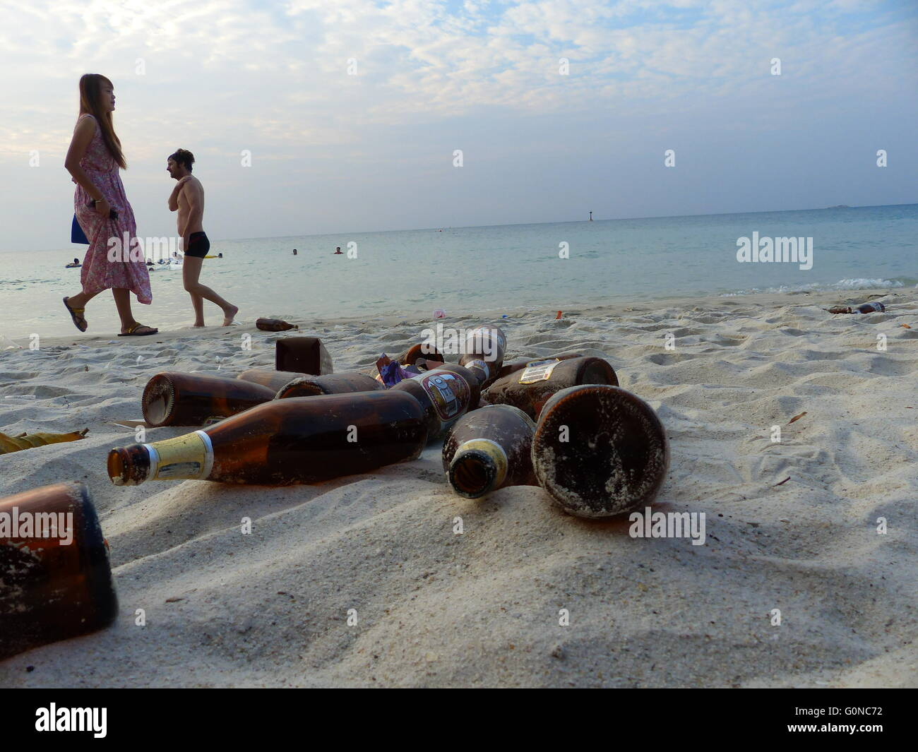 Thailand - Ko Samet Island which is located about 200 km southeast from Bangkok is a popular destination for domestic - Stock Image