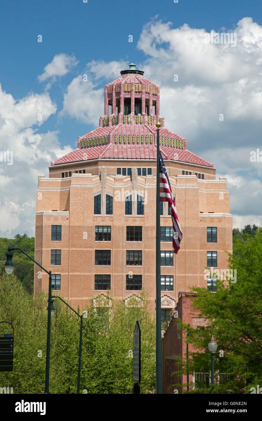 Asheville, North Carolina - City hall. - Stock Image