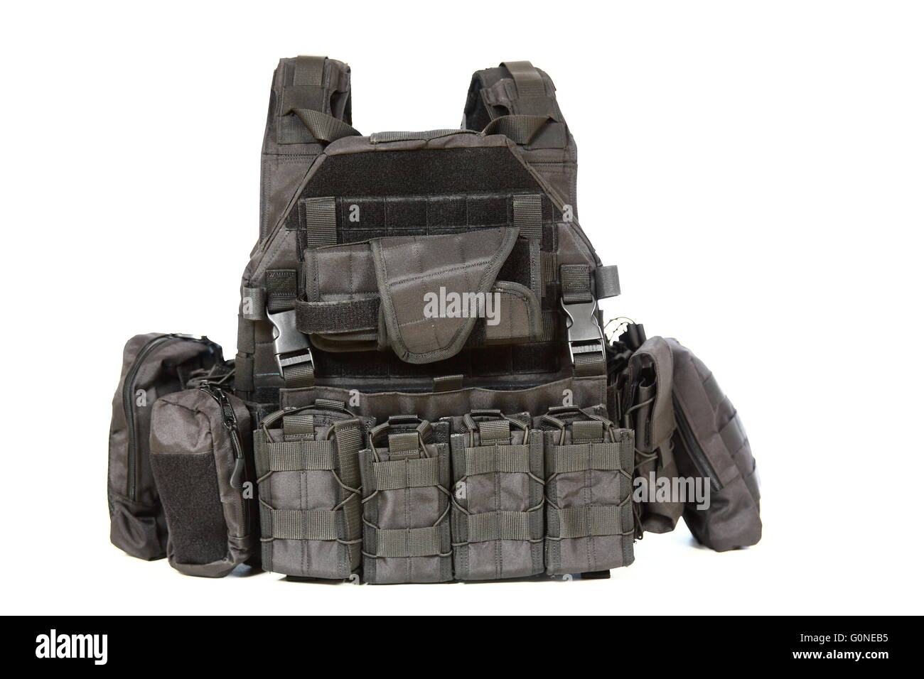 Tactical Vest for army with bulletproof - Stock Image