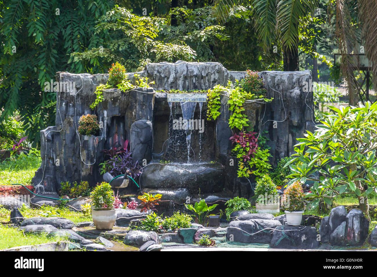Fountain in taman mini Park - Stock Image