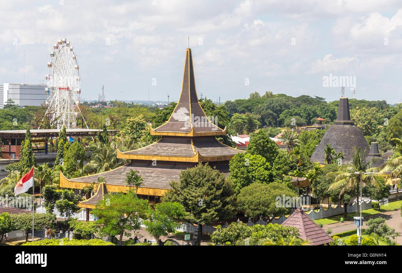 View over Taman Mini Park, Jakarta - Stock Image