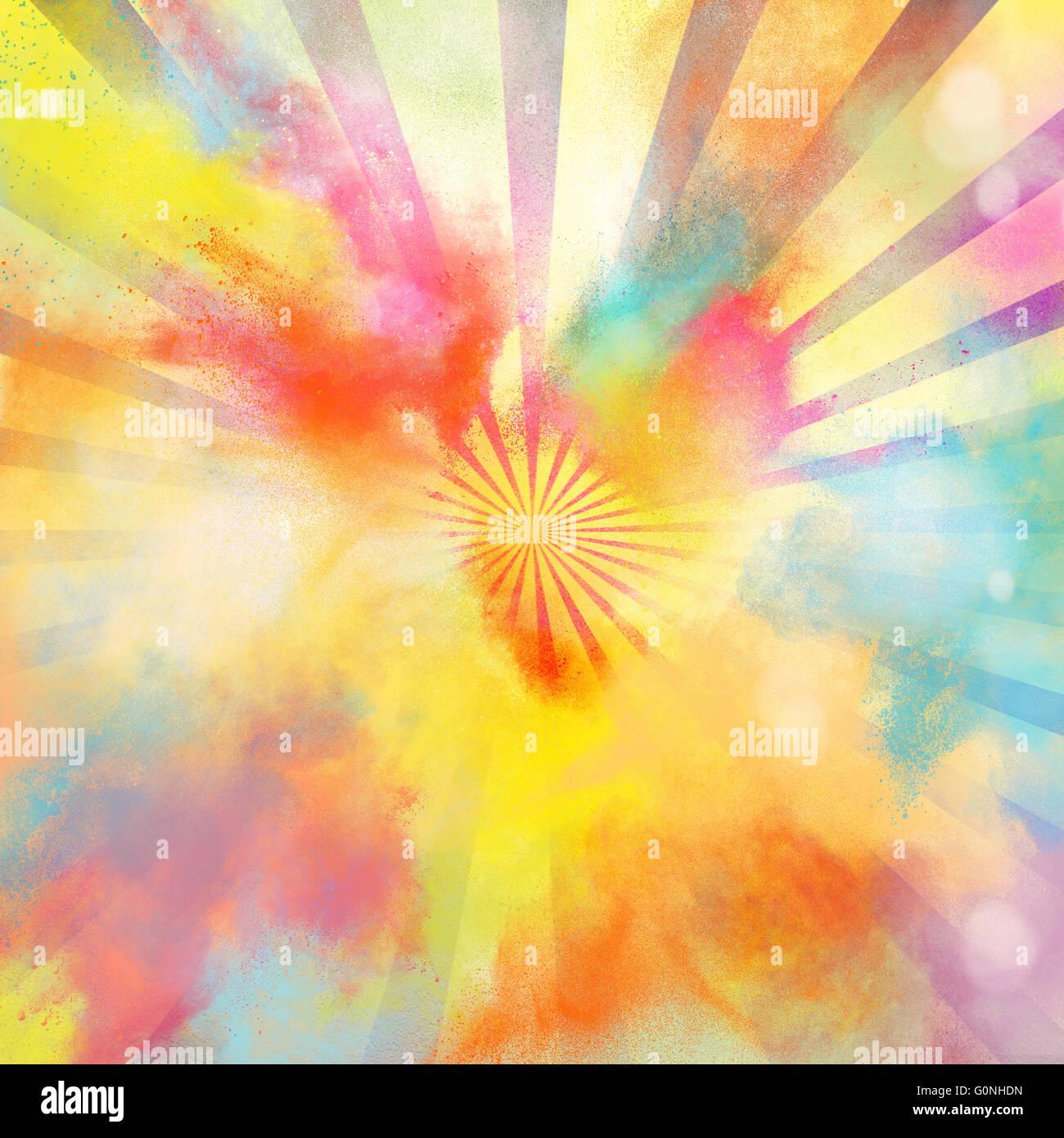 Pop-art colourful burst - Stock Image