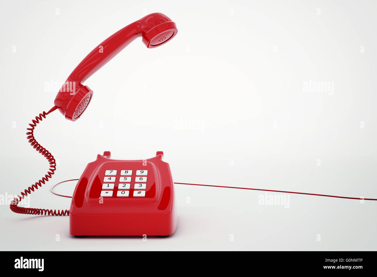 3D rendering telephone - Stock Image