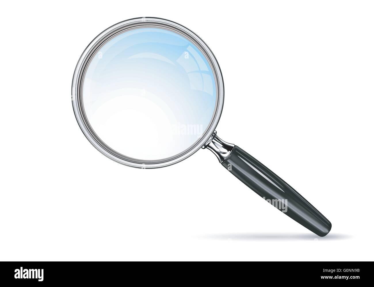 Vector EPS 10 magnifying glass  Blue lens effect Stock
