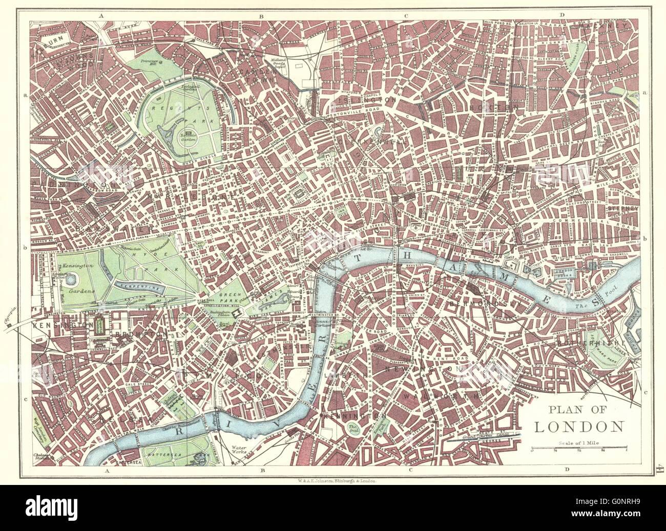 Pimlico London Map.London Plan West End Pimlico City Southwark Islington Stock Photo