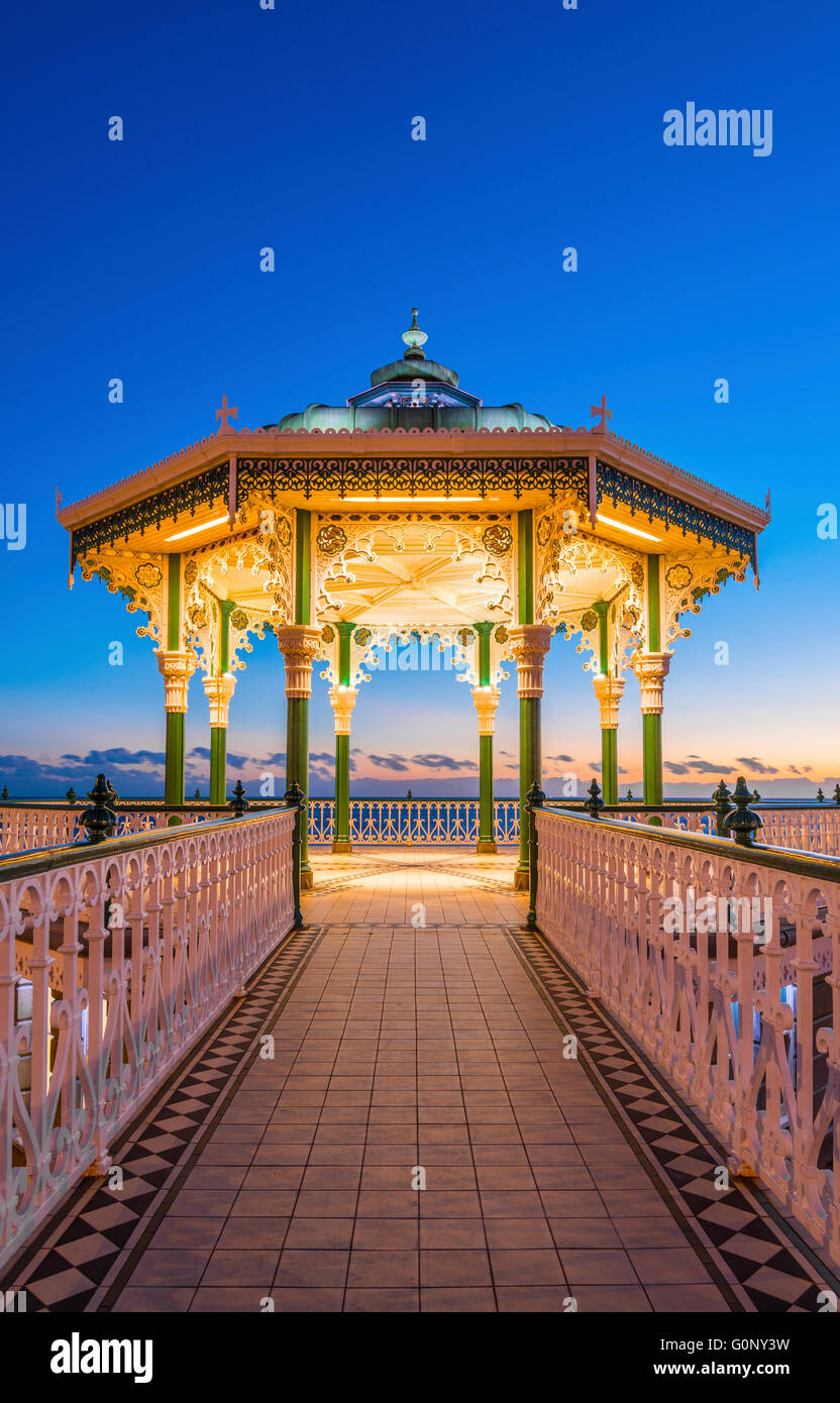 Victorian Bandstand on the promenade Stock Photo